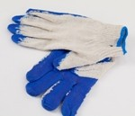 Перчатки ХБ латексные один облив